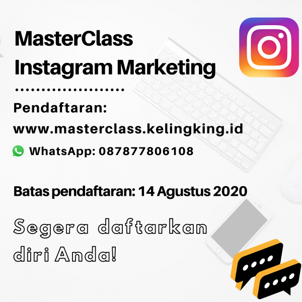 kelas online instagram marketing