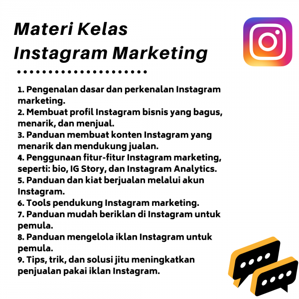 materi kelas ig marketing